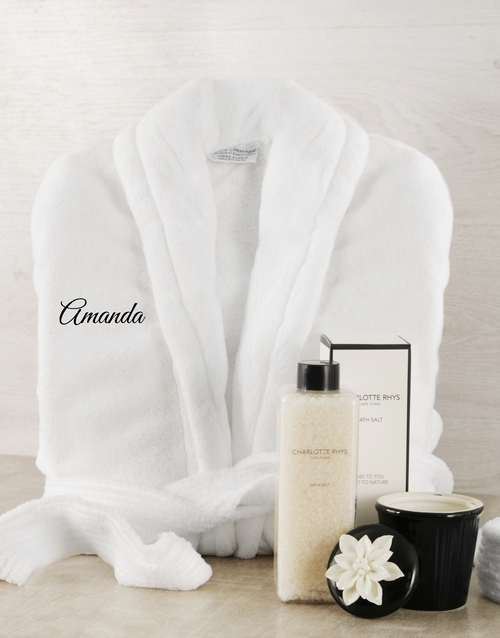 personalised: Personalised Black and White Gown Gift!