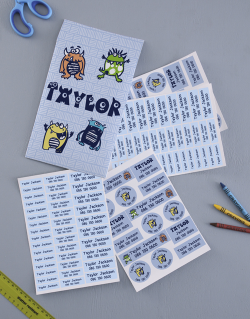 gifts: Personalised Monsters Labels!