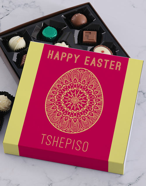 easter: Personalised Easter Egg Happy Easter Tray!