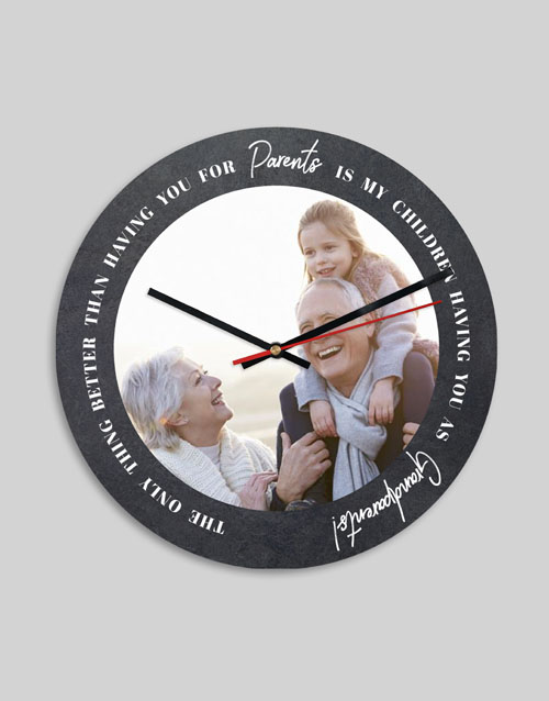 gifts: Personalised Wholesome Grandparents Clock!