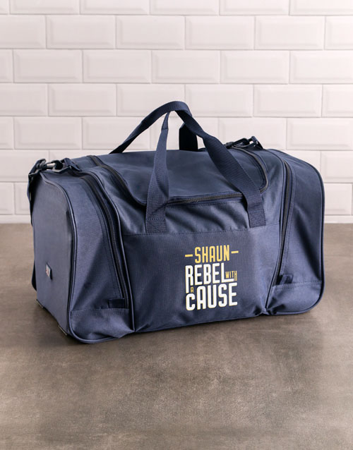 bosses-day: Personalised Rebel Gym Bag!