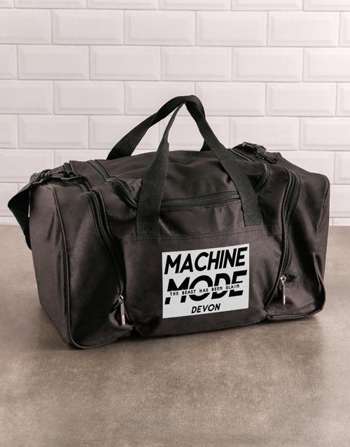 activewear: Personalised Machine Mode Gym Bag!