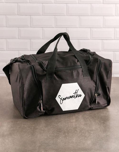 activewear: Personalised Brushstroke Gym Bag!