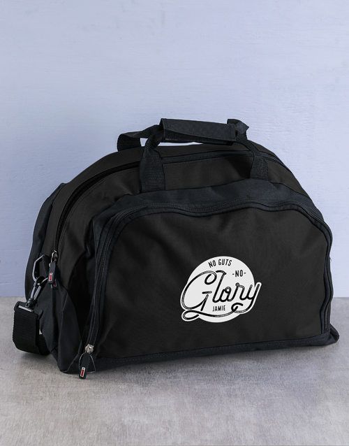 gifts: Personalised Guts For Glory Gym Bag!