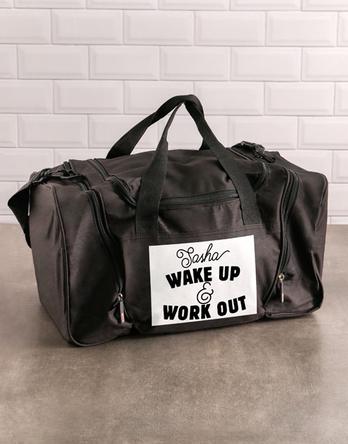 activewear: Personalised Work Out Gym Bag!