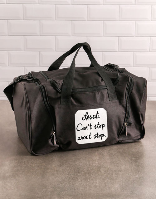 activewear: Personalised Never Stop Gym Bag!