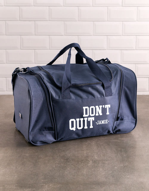 bosses-day: Personalised Never Quit Gym Bag!