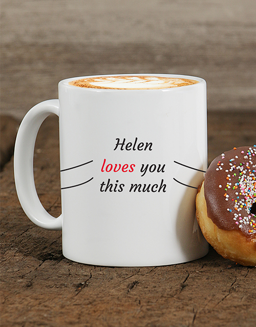 fathers-day: Personalised Love You This Much Mug!