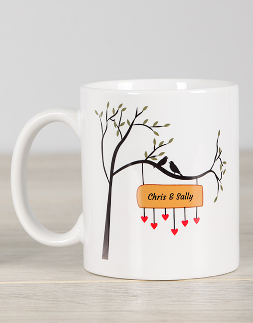 homeware: Personalised Love Bird Mug!