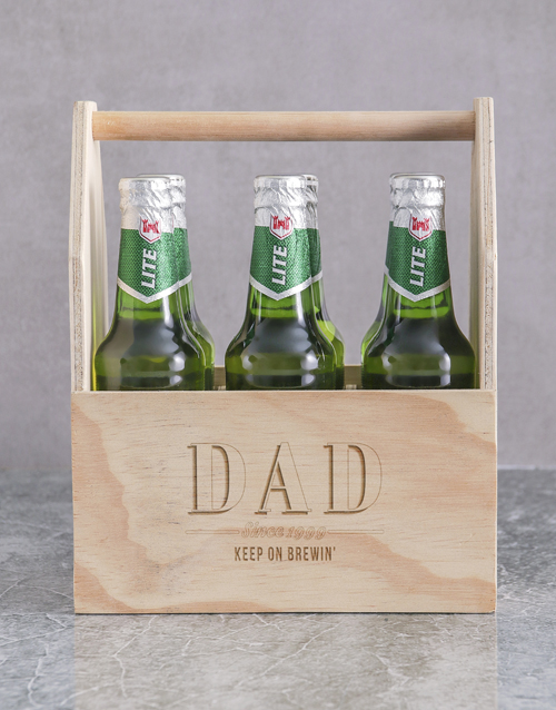 fathers-day: Personalised Dad Castle Beer Caddy!