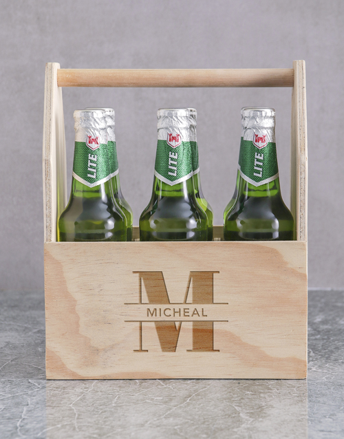 corporate: Personalised Stand Out Castle Beer Caddy!