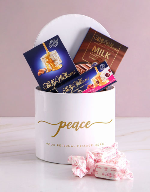 chocolate: Personalised Peaceful Sally Williams Hat Box !