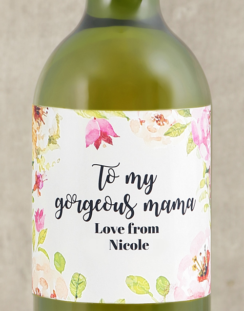 mothers-day: Personalised Gorgeous Mama Wine!
