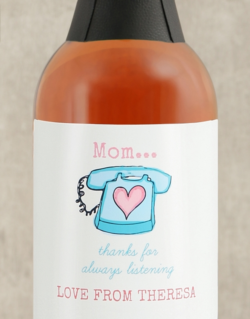 mothers-day: Personalised Fun Moms Wine!
