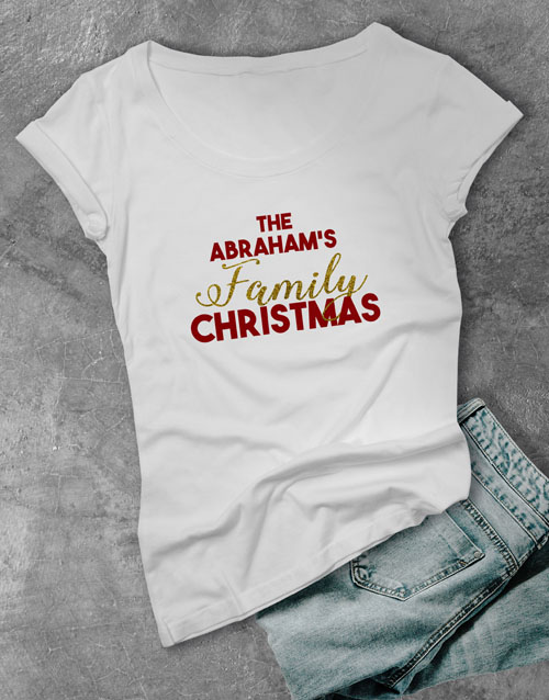 clothing: Personalised Family Ladies T Shirt!
