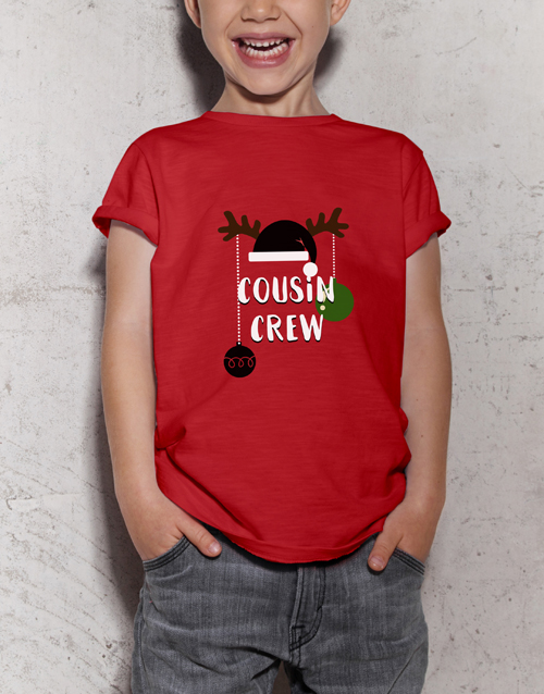 christmas: Personalised Christmas Crew Kids T Shirt!