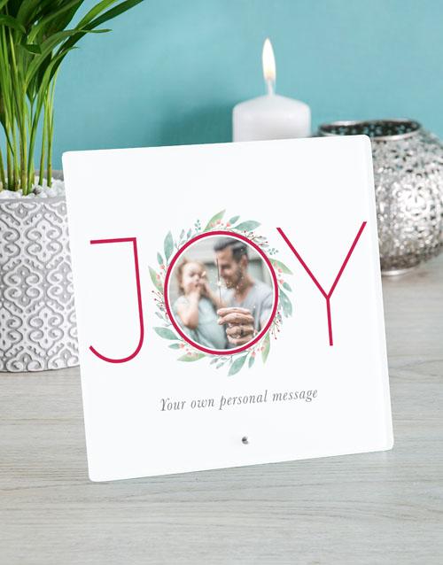 christmas: Personalised Christmas Joy Glass Tile!