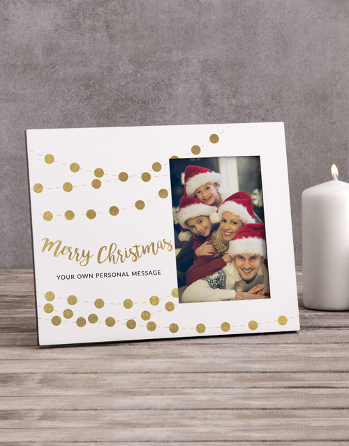 christmas: Personalised Merry Christmas Photo Frame!
