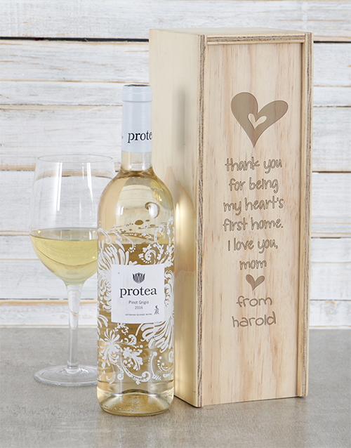 personalised: Personalised Hearts First Home Wine Crate!