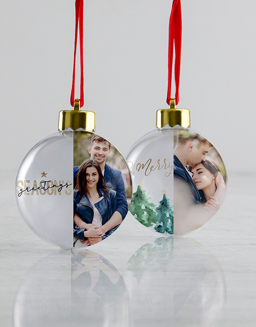christmas: Personalised Merry Season Christmas Baubles!