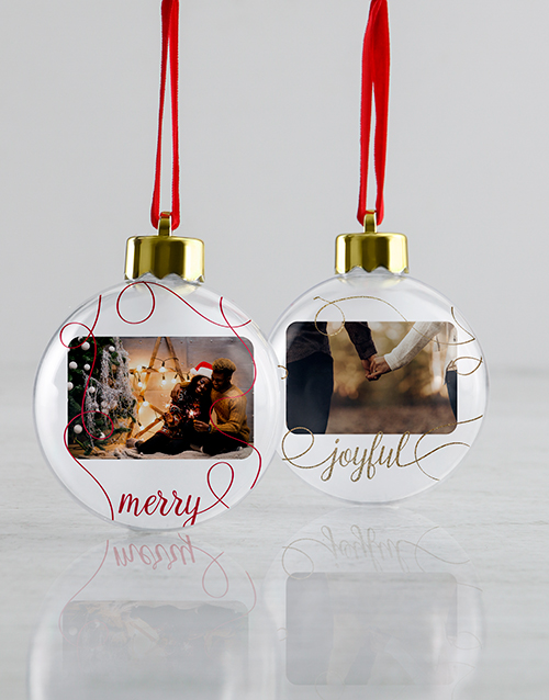 christmas: Personalised Joyful Baubles!