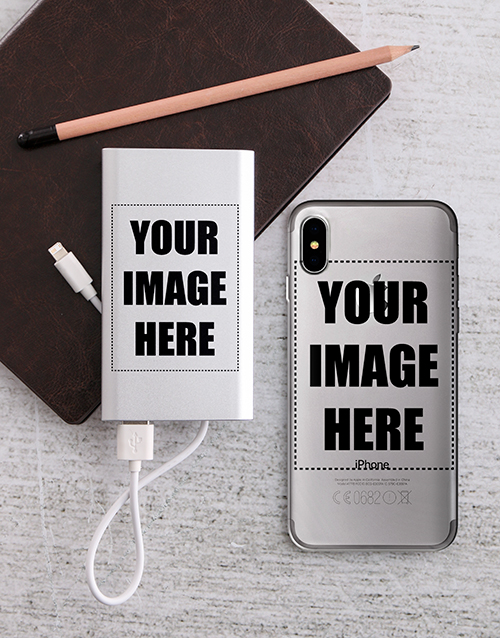 personalised: Personalised Photo Power Bank and iPhone Cover!