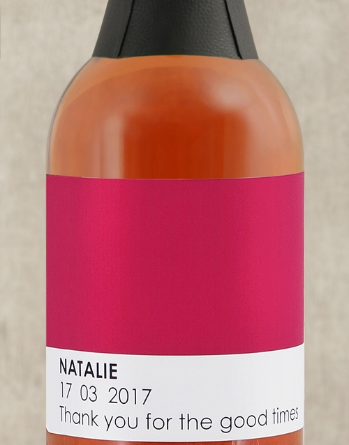 easter: Personalised Pink Pantone Sparkling Rose!