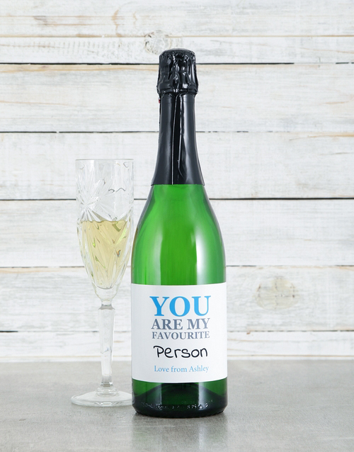 personalised: Personalised Favourite Sparkling Wine!
