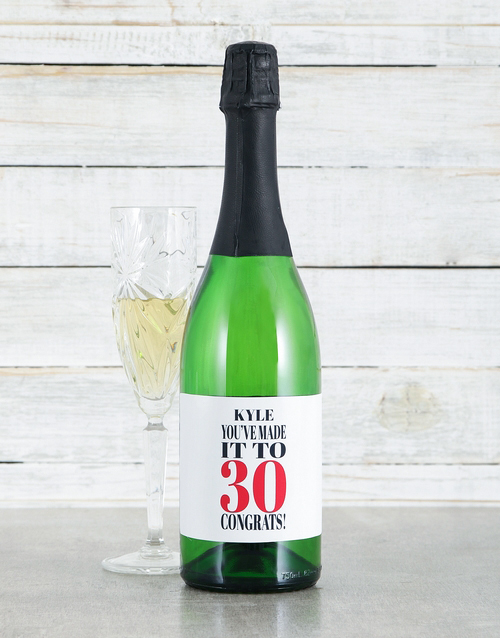 personalised: Personalised Congrats Sparkling Wine!
