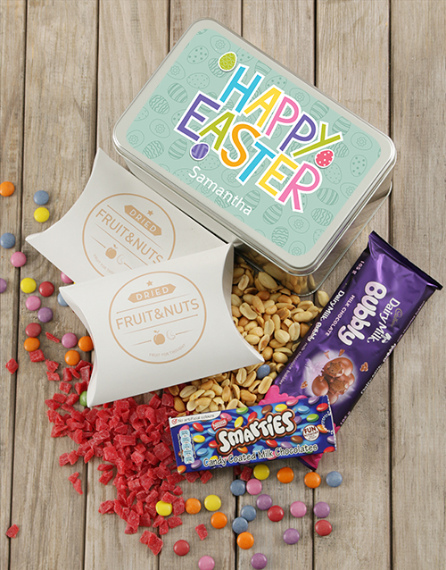 easter: Personalised Happy Easter Snack Tin!