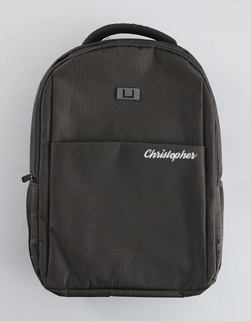 christmas: Personalised Travel Safe Tech Backpack!