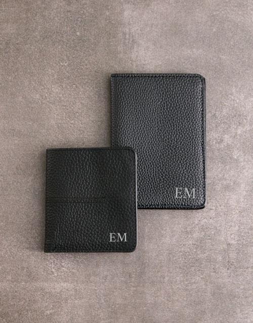 apparel: Personalised Black Wallet Passport Holder!