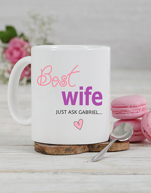 anniversary: Personalised Best Wife Mug!