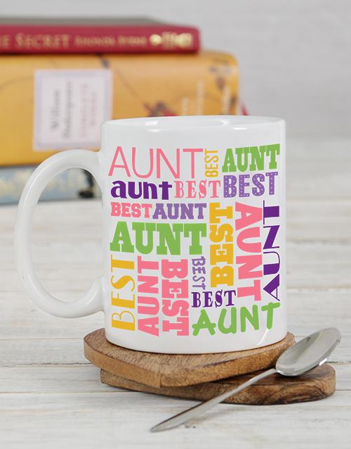personalised: Personalised Best Aunt Mug!