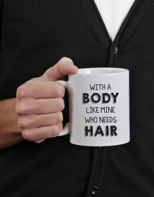 fathers-day: Personalised Body Like Mine Mug!