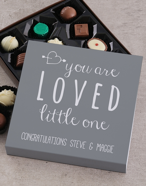 baby: Personalised You Are Loved Choc Tray!