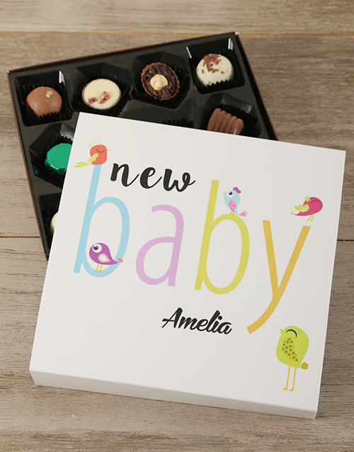 baby: Personalised New Baby Choc Tray!