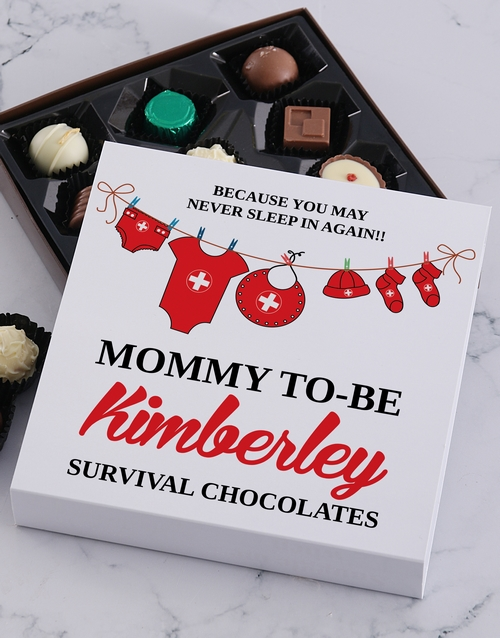 congratulations: Personalised Mommy To Be Choc Tray!