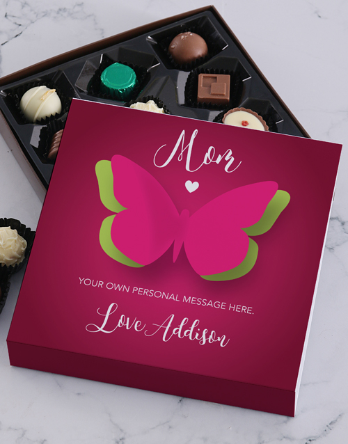 personalised: Personalised Butterfly Mom Choc Tray!