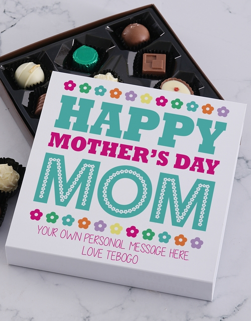 chocolate: Personalised Happy Mother's Day Choc Tray!