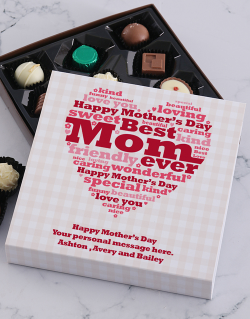 personalised: Personalised Best Mom Choc Tray!