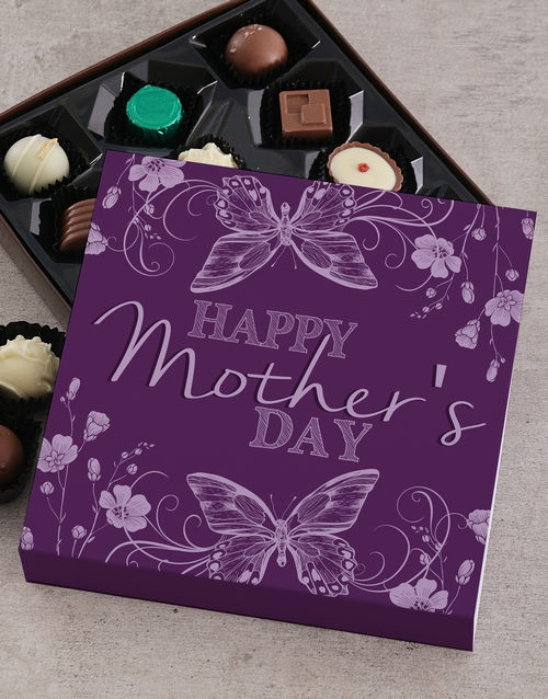 personalised: Personalised Purple Mothers Day Choc Tray!