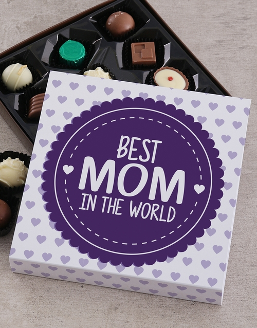 personalised: Personalised Best Mom In The World Choc Tray!