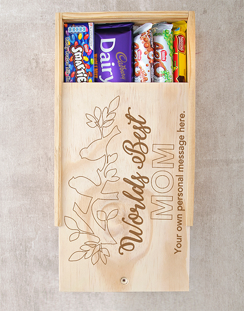 personalised: Personalised Worlds Best Mom Choc Crate!