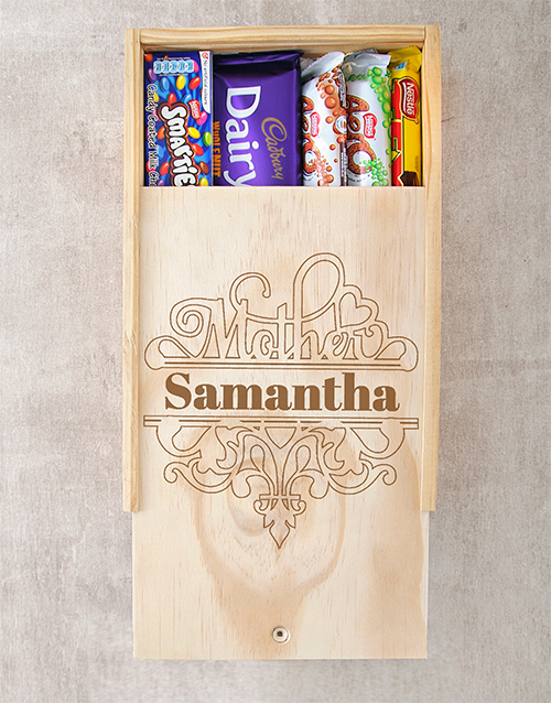 personalised: Personalised Special Mother Choc Crate!