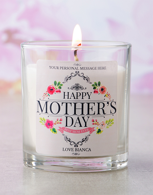 mothers-day: Personalised Happy Mothers Day Candle!