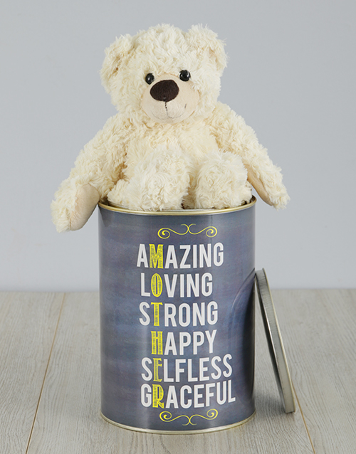mothers-day: Personalised Mother Teddy Tin!