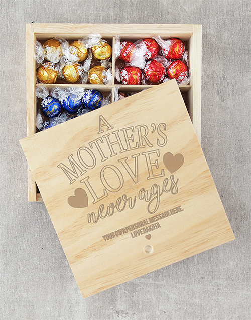 personalised: Personalised Mothers Love Lindt Crate!