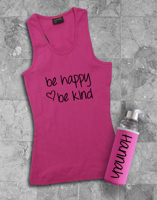 activewear: Personalised Be Kind Racerback and Water Bottle!