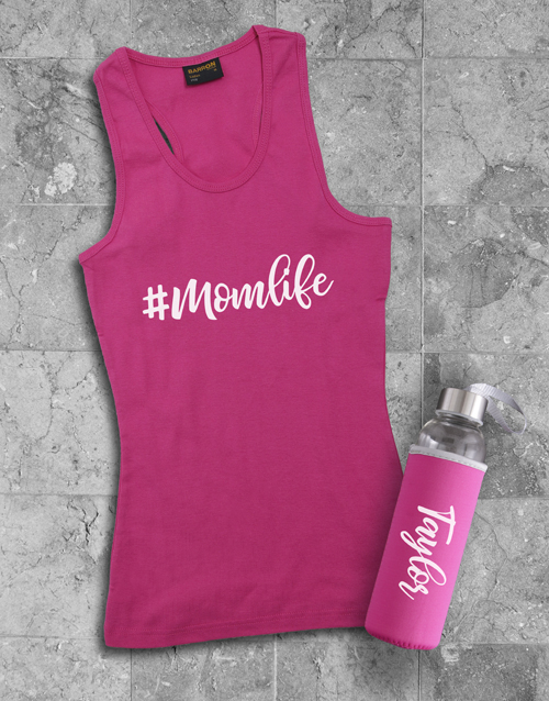activewear: Personalised Mom Life Racerback and Water Bottle!